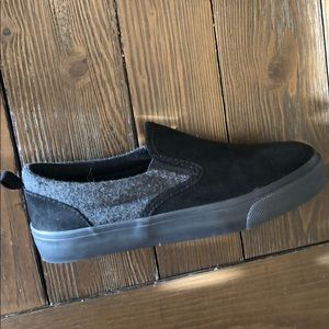 Toddler 12 Black Slip On Suede Shoes BRAND NEW